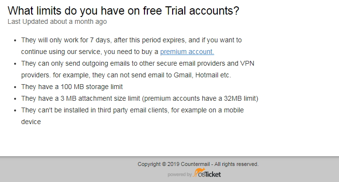 countermail trial accounts