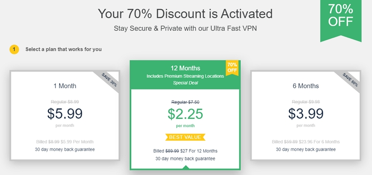 ultaVPN discount prices