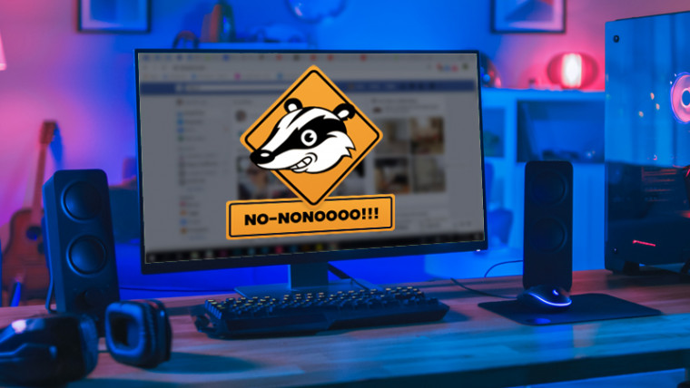 Privacy Badger logo on desktop