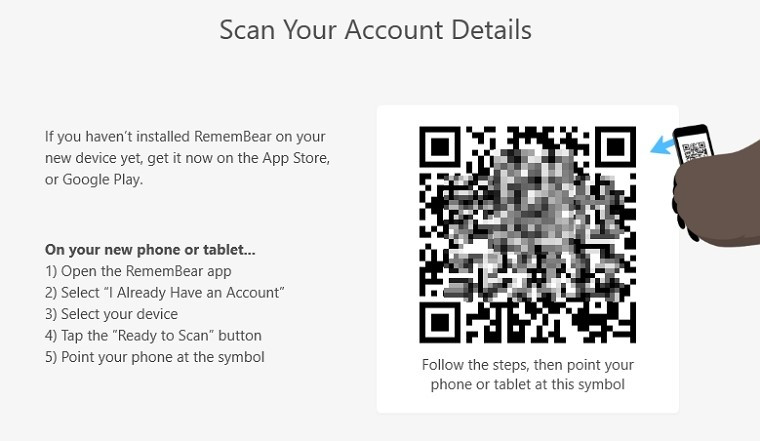 scan account details
